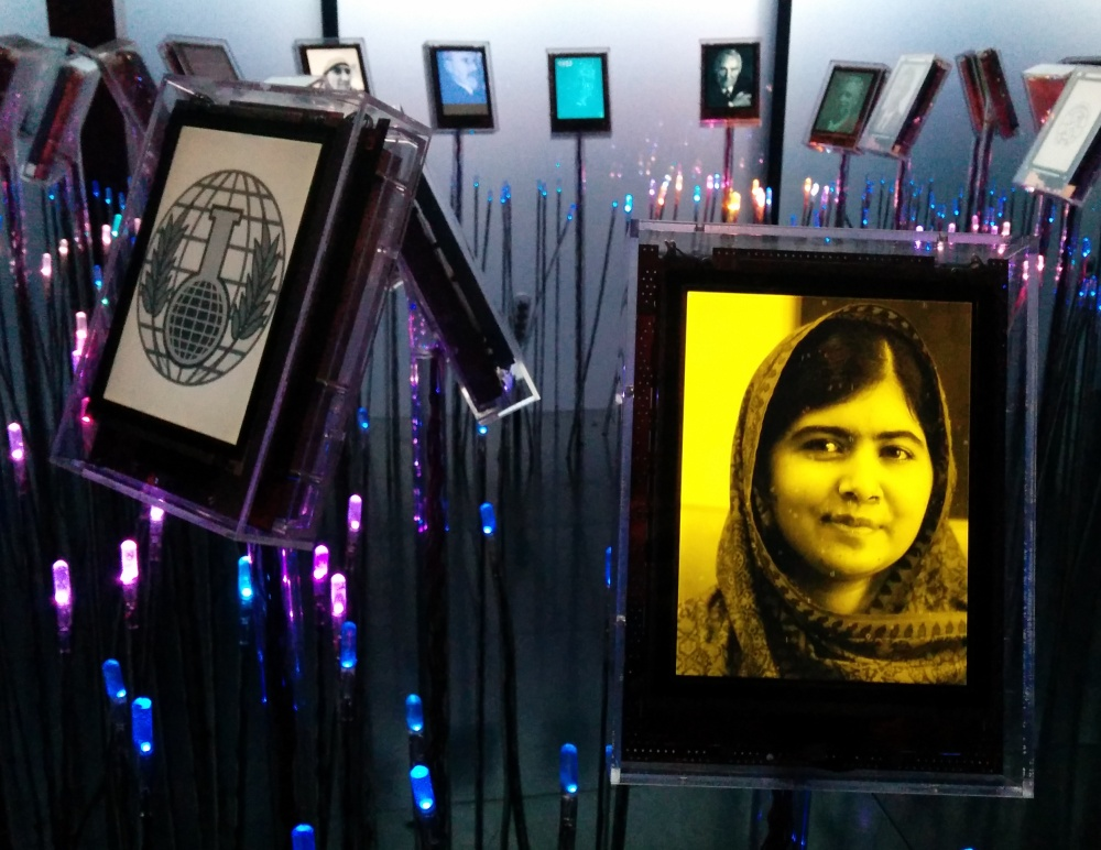 Malala in Nobel Field Oslo 2014