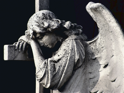 Angel grieving
