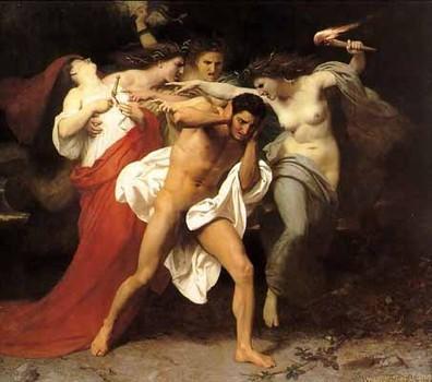 Furies tormenting Orestes