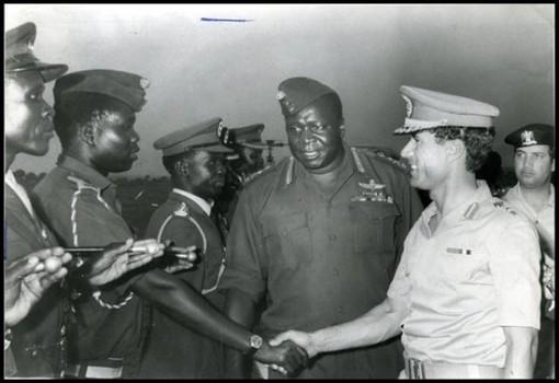 Gaddafi and Idi Amin