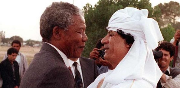 Gaddafi and Nelson Mandela