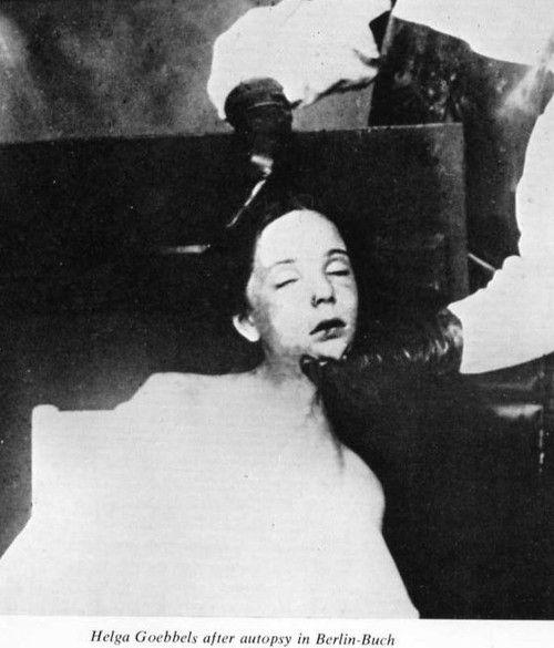 Helga Goebbels corpse