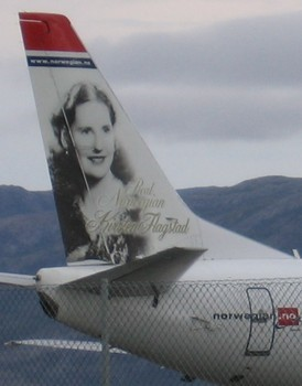 Kirsten Flagstad on Norway Airlines
