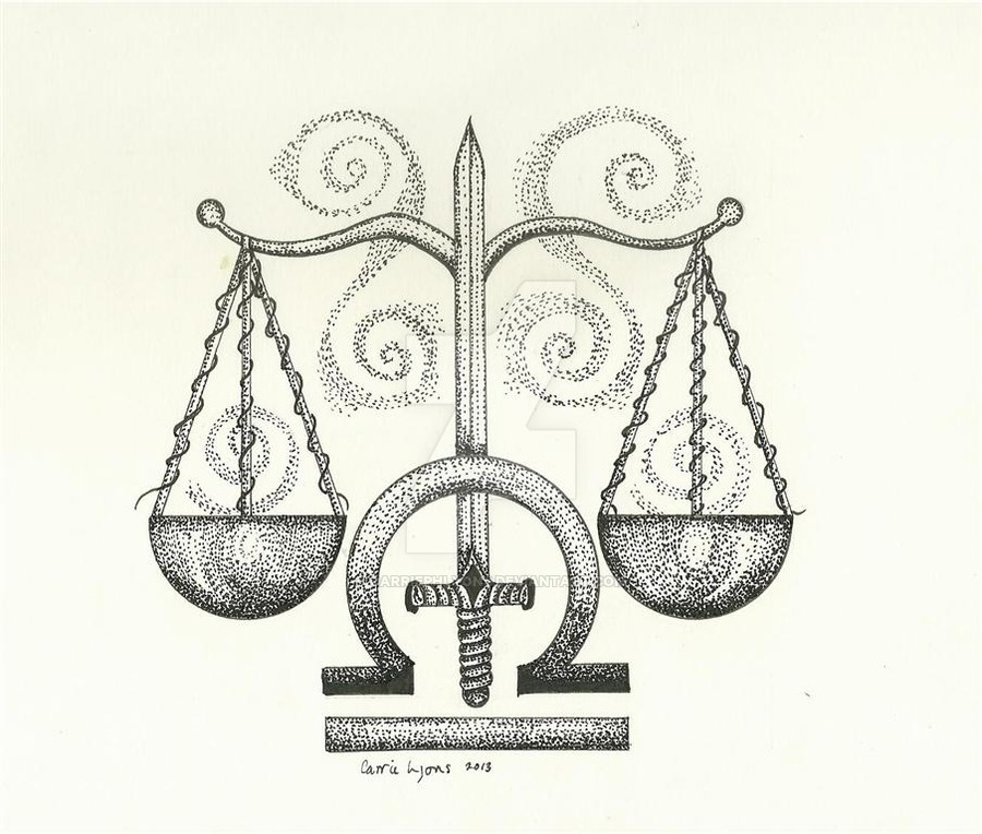 Libra Scales with Sword