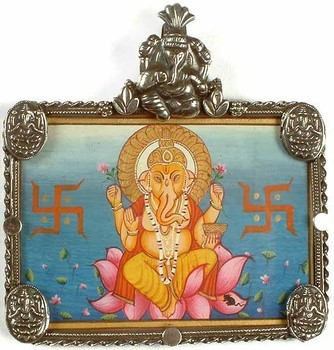 Ganesh and swastika