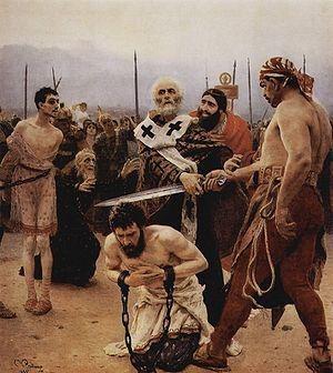 Ilya Repin - St. Nicholas saves 3 innocents 1888