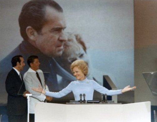 Pat Nixon first First Lady to speak at Republican National Convention 1972