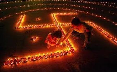 Swastika used in Hindu ritual
