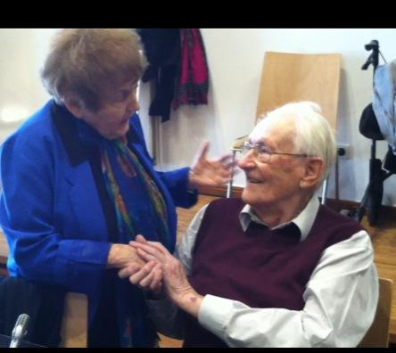 Oskar Groning with Eva Kor Auschwitz Survivor