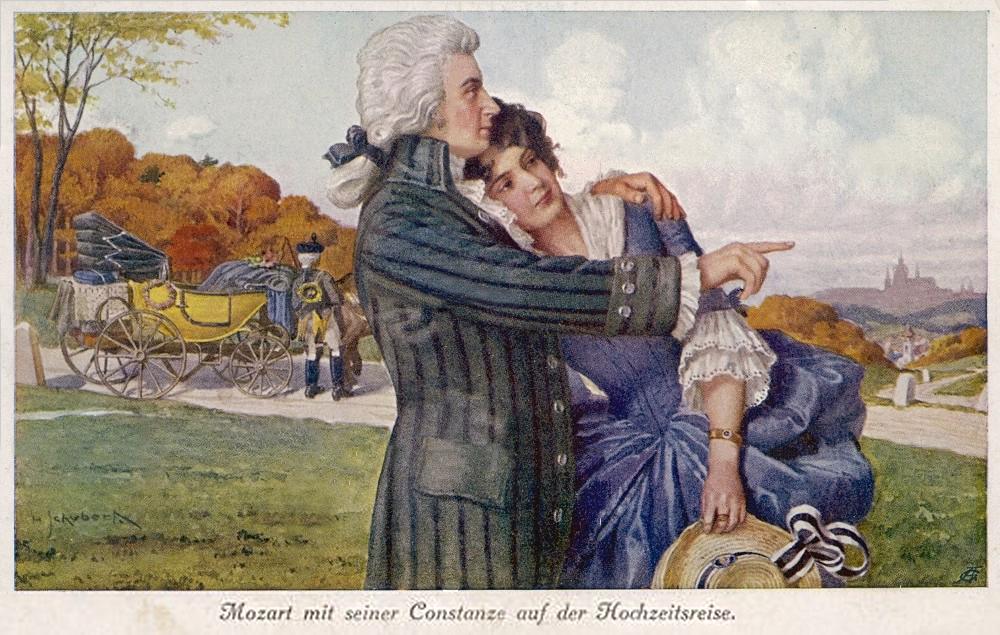 Wolfang & Constanze on Honeymoon