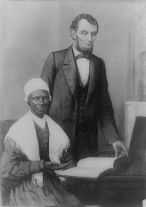 Abraham Lincoln with freed slave