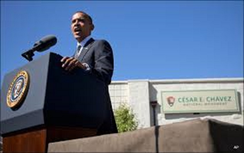 Cesar Chavez National Monument Obama Dedication