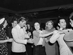 Desi Arnaz in a Conga Line
