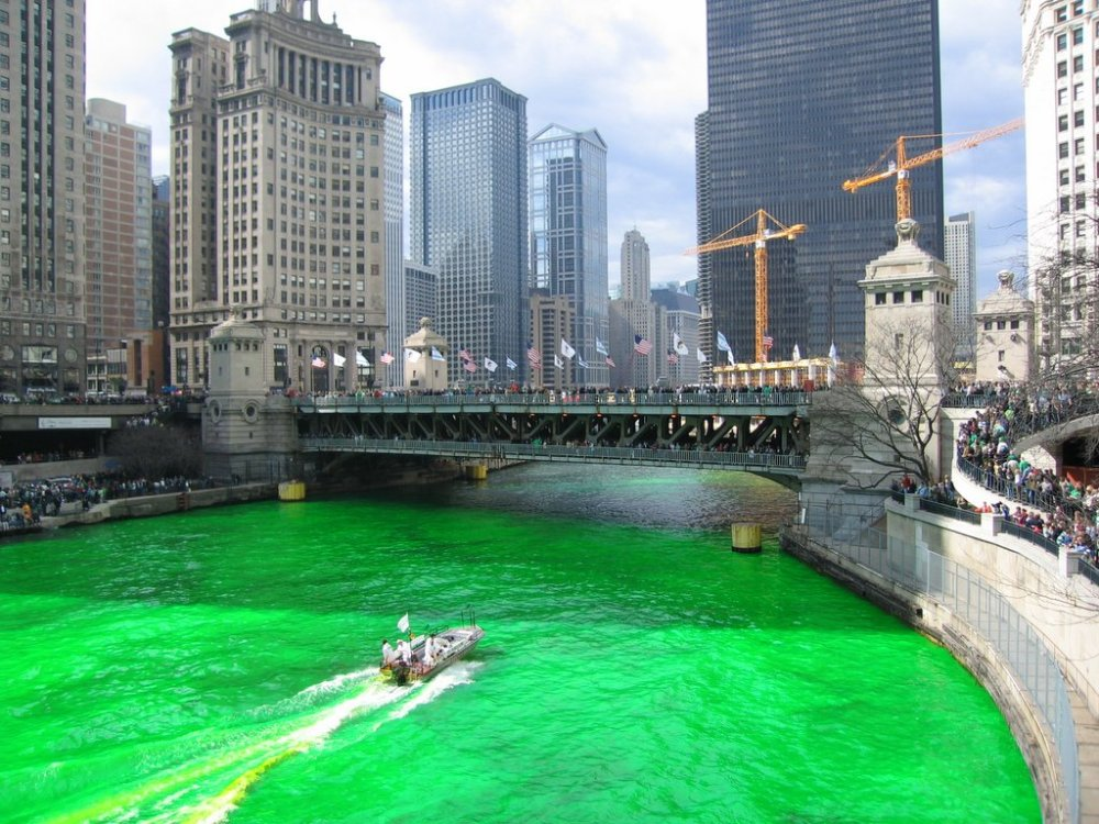 St. Patrick's Green Chicago River