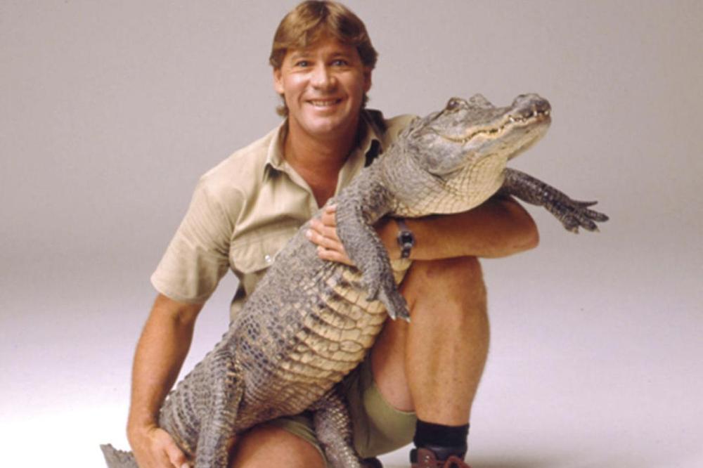 Steve Irwin with crocodile