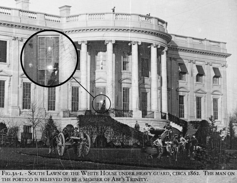 White House under guard Civil War