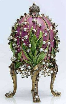 Easter Egg Faberge Lilly of the Valley