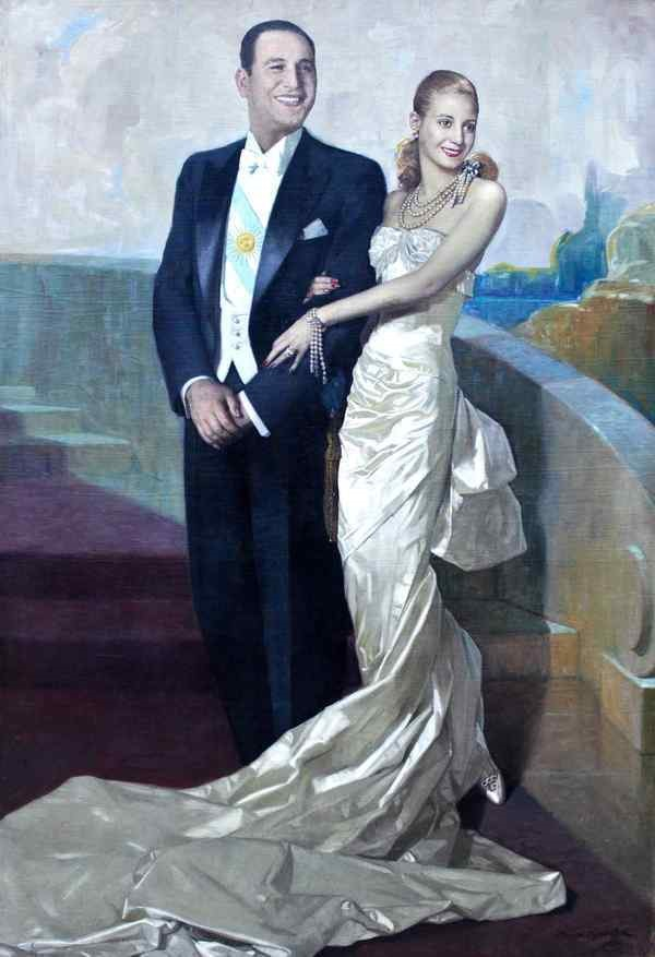 Evita and Juan Peron Portrait