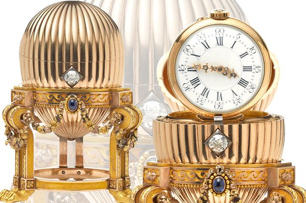 Faberge Egg Third Imperial cross section