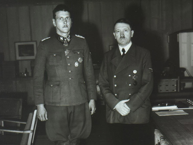 Hitler and Otto Skorzeny