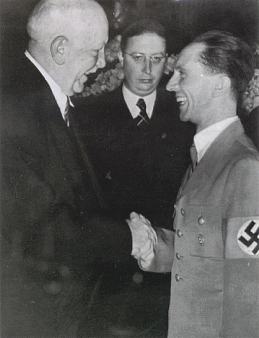 Richard Strauss President of the Reichsmusikkammer with Josef Goebbles