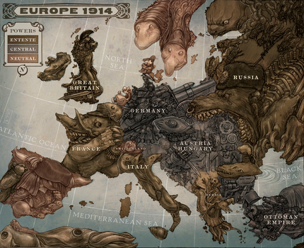 Map of Europe Pre-World War I