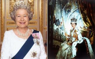 The Royal Lady who wasn't destined to be Queen celebrated her Diamond Jubilee, or 60 years on the throne in 2012 and in September of 2015 in her 64th year of rulership Queen Elizabeth II became the English monarch with the longest reign in History surpassing her great granmama Queen Victoria who ruled Britain for 63 years and 7 months. (wikipedia.org)