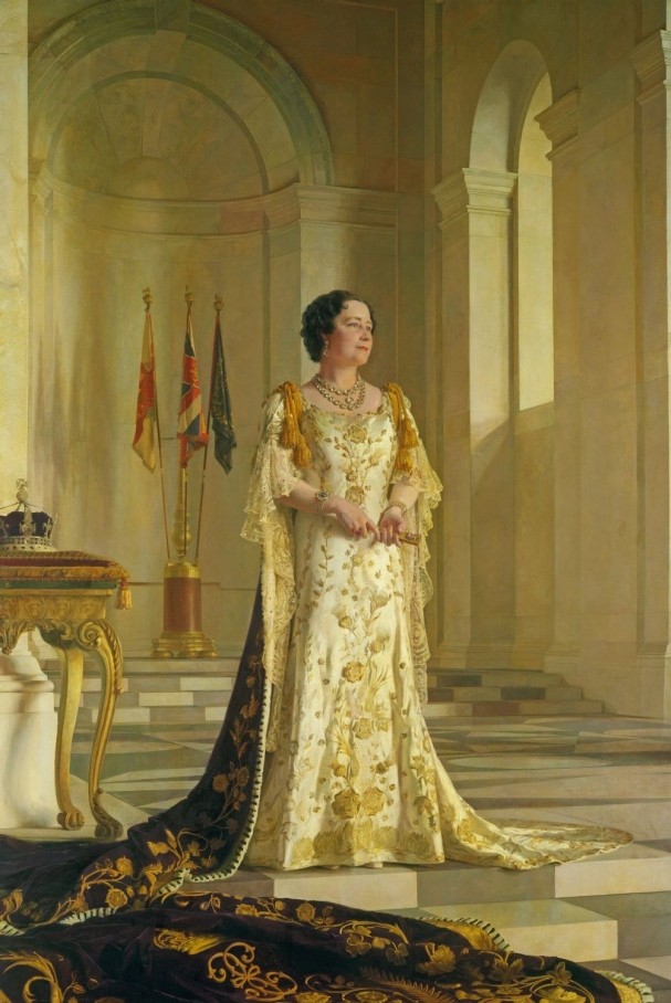 "The coronation portrait of the ""Smiling Duchess"" whom Adolf Hitler dubbed ""the most dangerous woman in Europe"" upon becoming Queen in 1937."