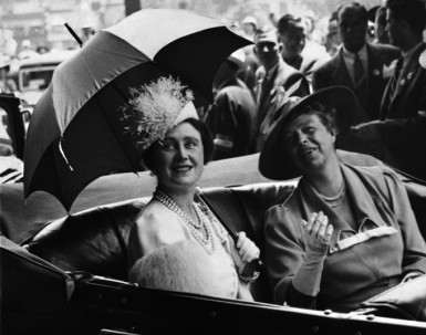 First Lady Eleanor Roosevelt takes Queen Elizabeth on a tour of Washington D.C. during the last quiet moments before the world once again went to war in 1939.