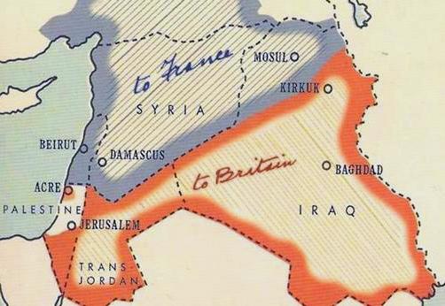 Sykes Picot Map