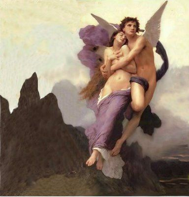 Cupid and Psyche by Bougereau 1894