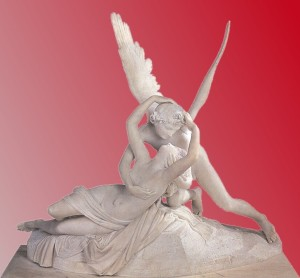 Cupid and Psyche in pink