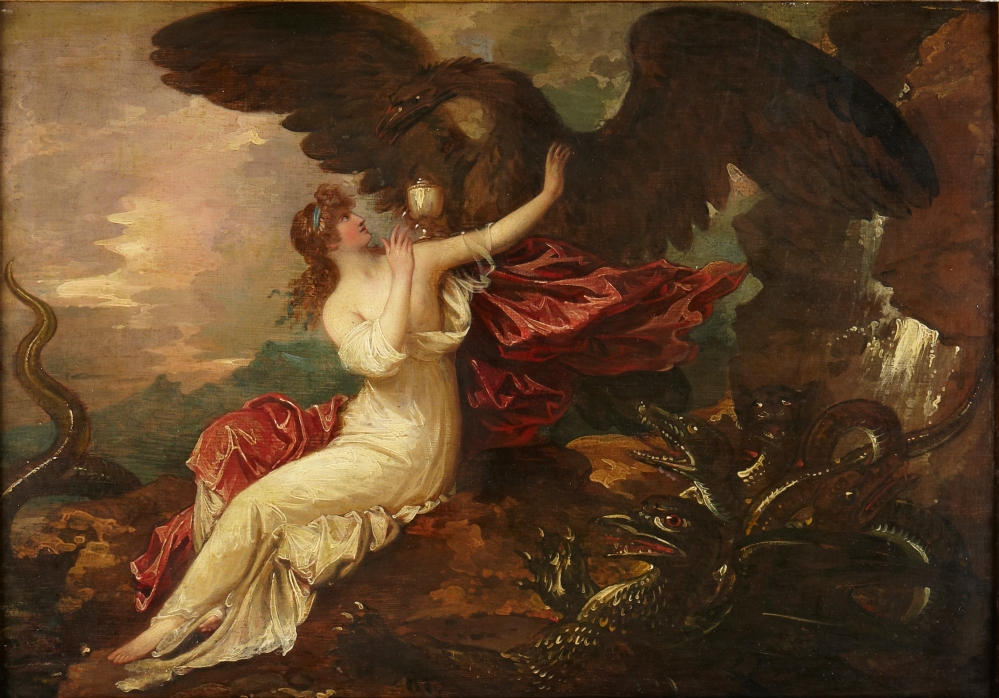 Psyche and Zeus' Eagle by Benjamin West 1802