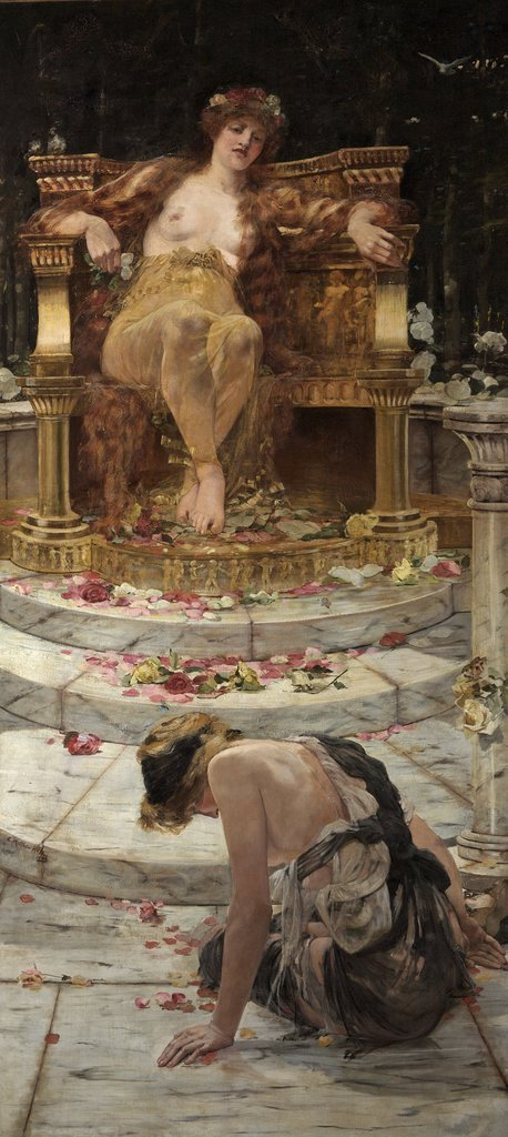 Psyche at the throne of Venus by Edward Matthew Hale 1883