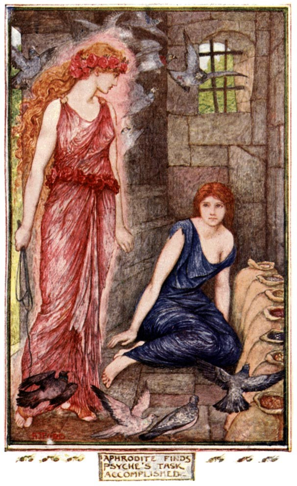 Psyche completes Venus sorting seed task by Andrew Lang 1921