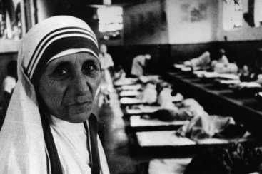 Mother Teresa at a hospital ward in Calcutta in the early 80's.