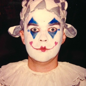 """You coppas ain't got nuthin' on me see? Yeah, I may have done the clown thing a few times, but I don't do that stuff no more. Swear to Bozo! Brad singing the role of the Harlequin from the opera """"I Pagliacci"""", in Italian """"The Clowns"""" at the Amato Opera in NYC on November 12th, 2000."""