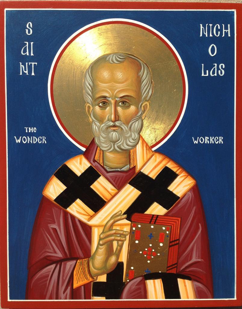 Saint Nicholas with halo