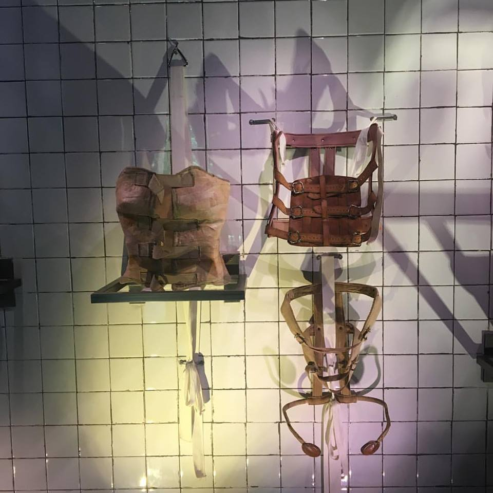 Frida Kahlo's back braces at the Museo Frida Kahlo