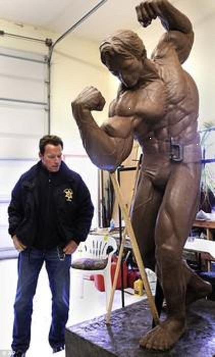 Arnold admires Arnold