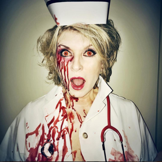 Martha Stewart as Dead Nurse Halloween 2016