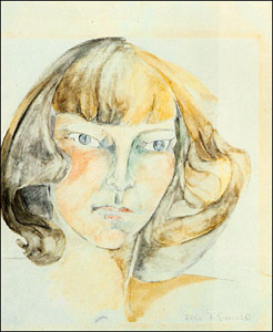 Zelda Fitzgerald self portrait 1940