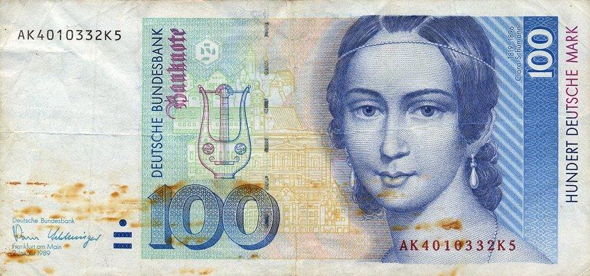 Clara Schumann 100 Deutsche Mark