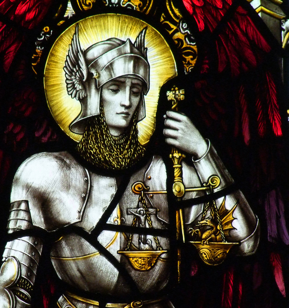 St. Michael weighing good and evil