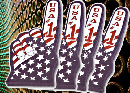 America # 1 Foam Hand