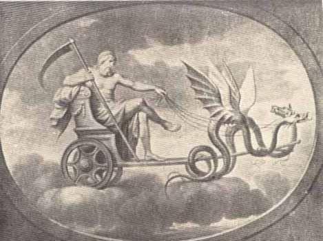 Saturnus riding chariot