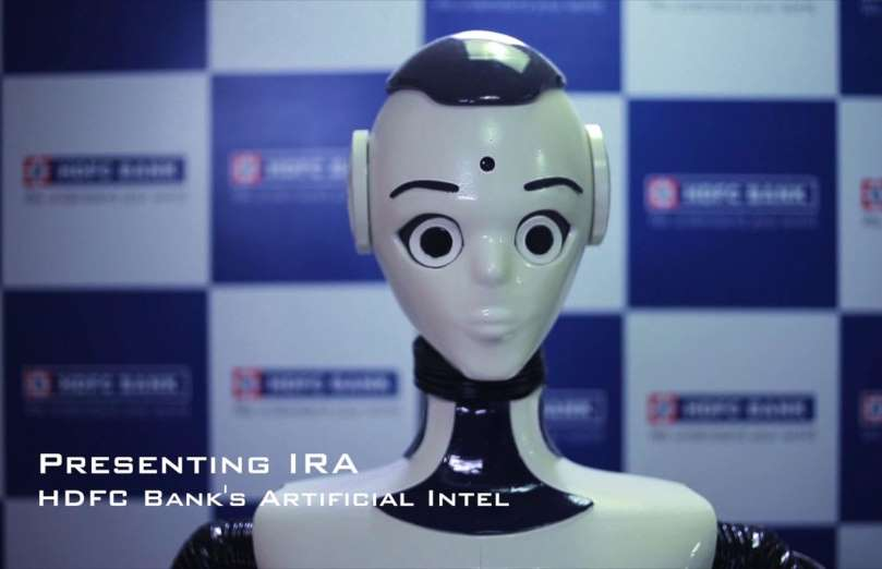 HDFC Bank robot teller