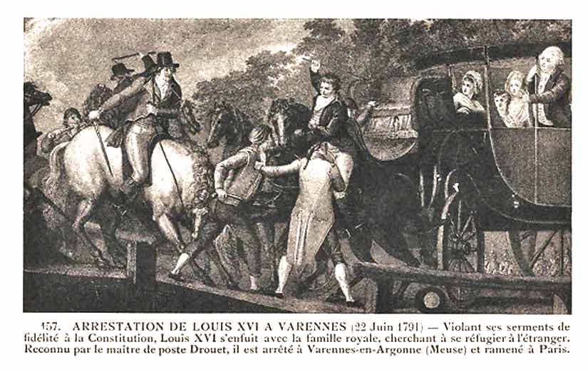Louis XVI and family try to escape