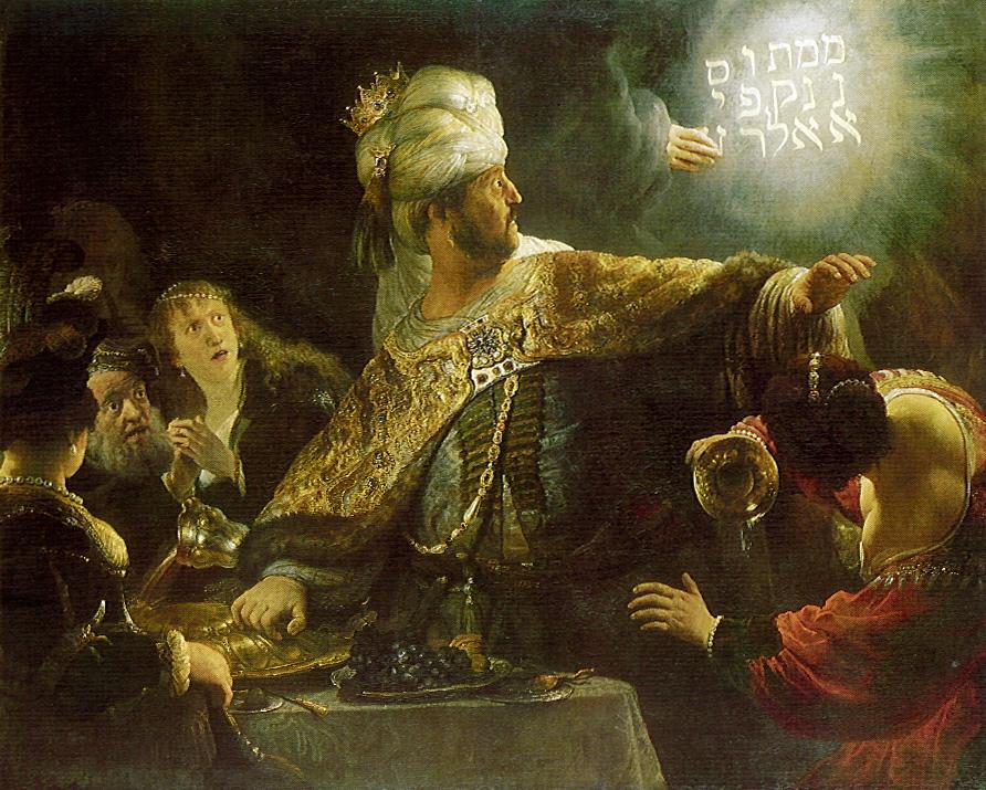 Belshazzars Feast Rembrandt 1635