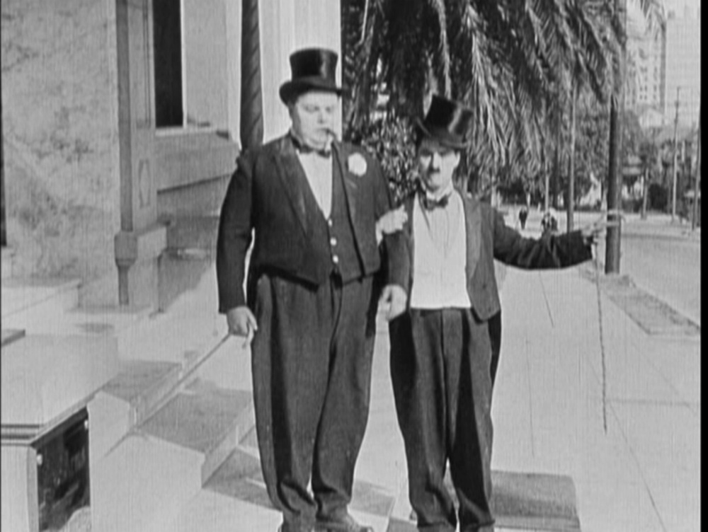 Fatty Arbuckle and Charlie Chaplin The Rounders 1914